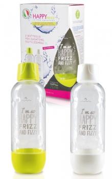 HAPPY FRIZZ Universal Mehrwegflaschen - 2 Stück